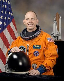Astronaut Clayton Anderson at Kearney Public Library on July 17
