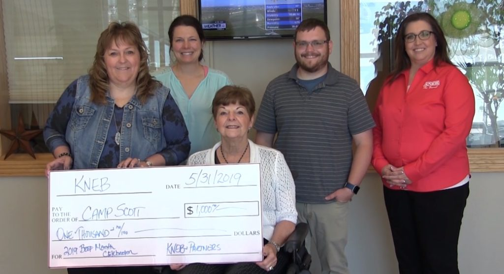 KNEB donates Beef Month BBQ proceeds to Camp Scott