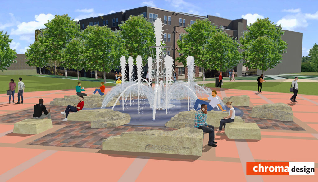 UNK's new Cope Fountain should be flowing this fall