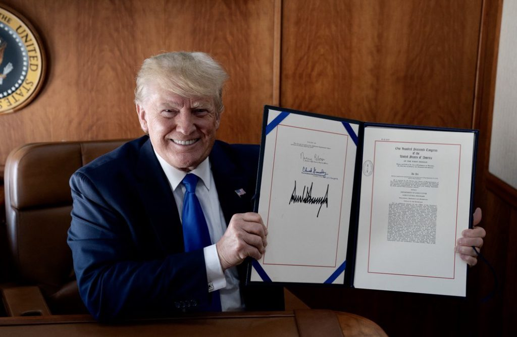 Trump signs long-delayed $19.1B disaster aid bill