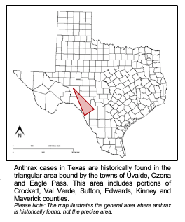 Anthrax Confirmed on Uvalde County Premises