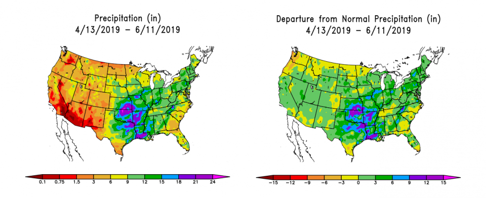 Audio Longer Term Forecasts For More Moisture In The Corn Belt - Us-corn-belt-map