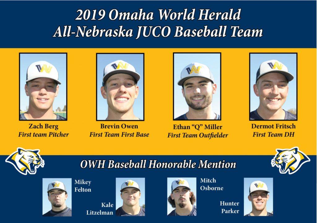 Eight WNCC baseball players make Omaha World Herald All-Nebraska team