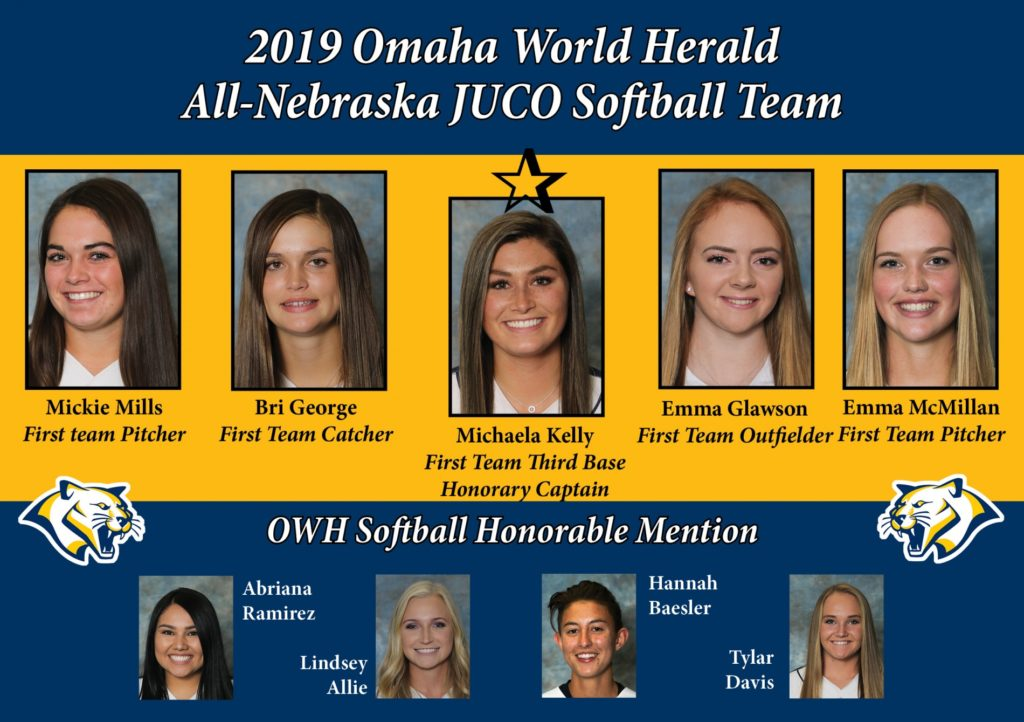 WNCC softball places nine on Omaha World Herald All-Nebraska team, Kelly named captain