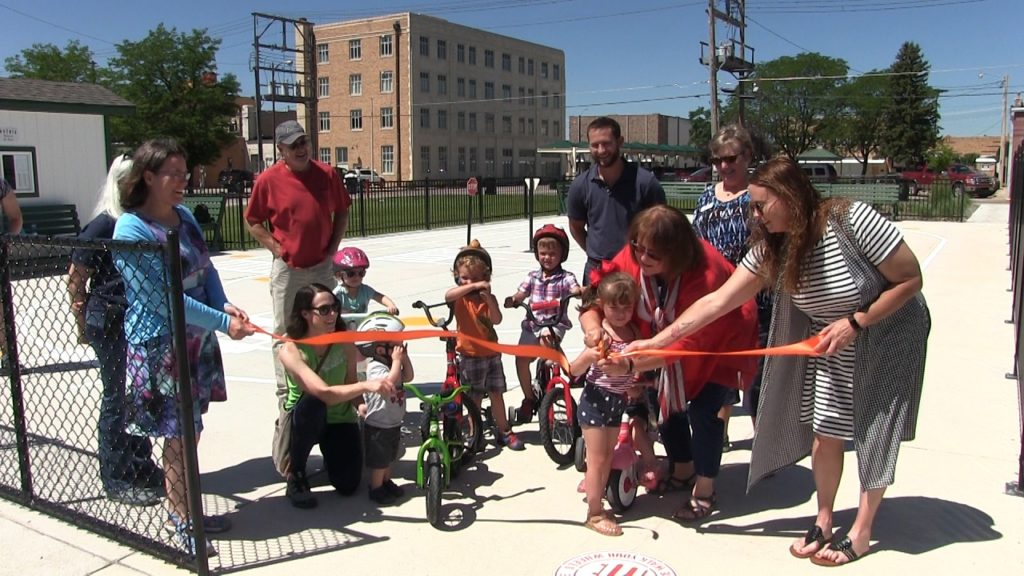 Downtown Scottsbluff winter ice skating rink becomes summer bicycle playground