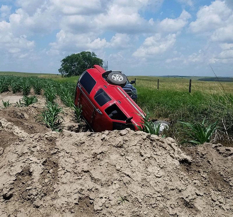 Nebraska man trapped overnight under vehicle in sinkhole