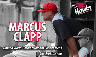Clapp named Omaha World-Herald Midlands College Men's Coach of the Year