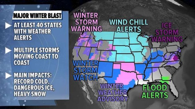 Historic winter storm heads to Texas, vaccine appointments cancels in Austin: Latest
