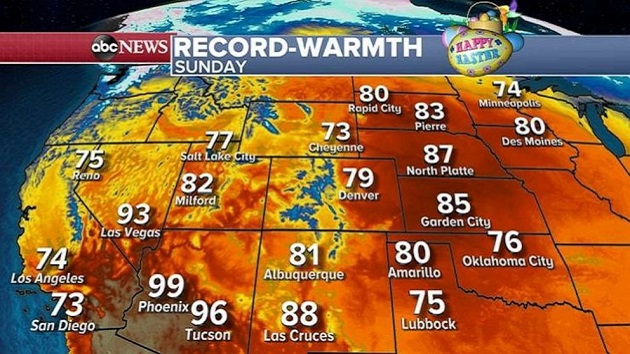 Record-lows across East Coast, but warmer temperatures expected Easter Sunday