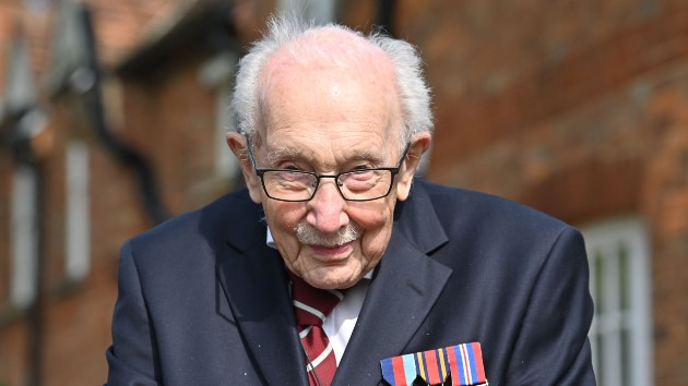 Capt. Sir Tom Moore, who raised millions for health workers, hospitalized with COVID-19