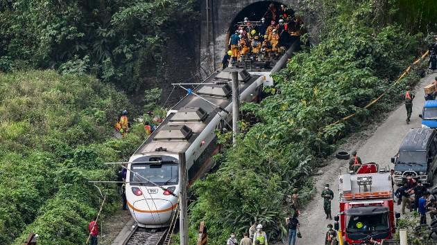 At least 54 dead in Taiwan train crash