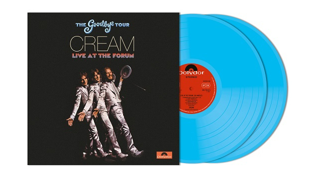 1968 Cream concert album, 'Goodbye Tour — Live at the Forum,' to be released as two-LP blue-vinyl set in April