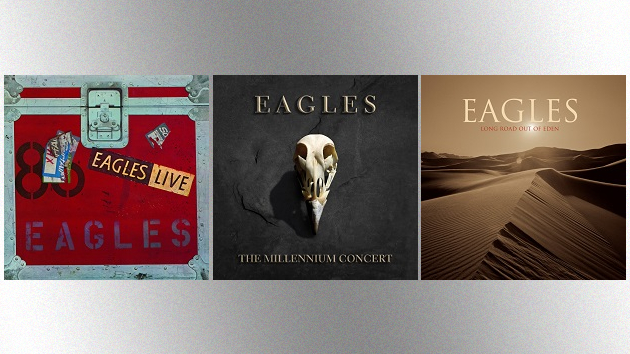 Eagles releasing two-LP vinyl versions of 'Eagles Live,' 'The Millennium Concert,' 'Long Road Out of Eden' this week