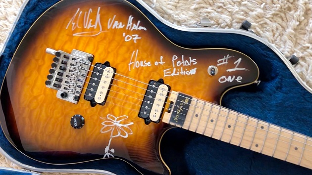 Electric guitar signed and played by Eddie Van Halen being auctioned by an ex-girlfriend