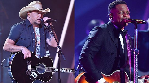 Jimmie Allen, Jason Aldean performing on 'American Idol' All-Star Duets episode