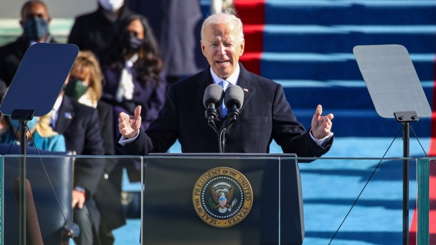Biden assumes presidency at Capitol saying 'democracy has prevailed'