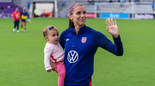 Alex Morgan scores first goal for US Women's National Team since giving birth to daughter