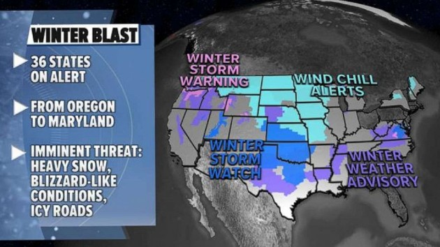 Cross country storms to hit South and East with more ice, snow