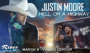 Justin Moore with Dylan Scott @ Viaero Center | Kearney | Nebraska | United States