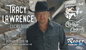 Tracy Lawrence with Lucas Hoge @ Cattlemen's Ball of Nebraska | Hebron | Nebraska | United States