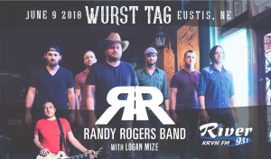 Randy Rogers Band with Logan Mize @ Wurst Tag 2018 | Eustis | Nebraska | United States