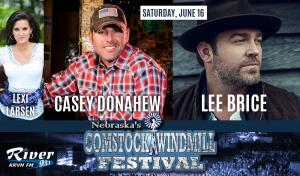 Lee Brice & Casey Donahew with Lexi Larsen @ Comstock Windmill Festivall | Comstock | Nebraska | United States