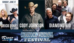 Diamond Rio, Cody Johnson, Trick Pony @ Comstock Windmill Festivall | Comstock | Nebraska | United States