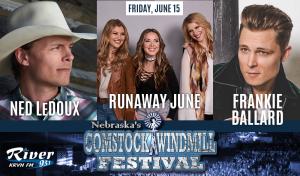 Frankie Ballard, Ned LeDoux, & Runaway June @ Comstock Windmill Festivall | Comstock | Nebraska | United States