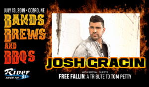 Josh Gracin, also performing - Free Fallin, James Lee Band & Heather Wellman @ Bands, Brews, & BBQs | Cozad | Nebraska | United States