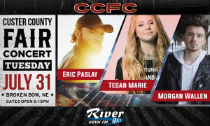 Eric Paslay + Morgan Wallen with Teagan Marie @ Custer County Fair | Broken Bow | Nebraska | United States