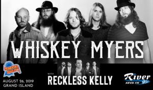 Whiskey Myers with Reckless Kelly @ Nebraska State Fair | Grand Island | Nebraska | United States