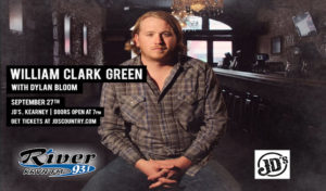 William Clark Green with Dylan Bloom @ JD's, Kearney, Nebraska