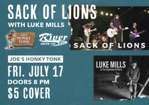 Sack of Lions with Luke Mills & the Highway Drifters @ Joe's Honky-Tonk