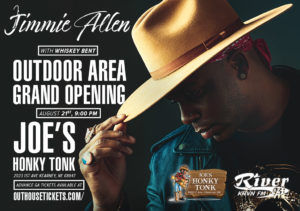 Jimmie Allen with Whiskey Bent @ Joe's Honky-Tonk