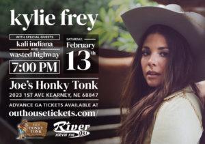 Kylie Frey with special guests Kali Indiana and Wasted Highway @ Joe's Honky-Tonk