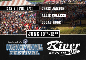 Chris Janson with Allie Colleen & Lucas Hoge @ Comstock Windmill Festival