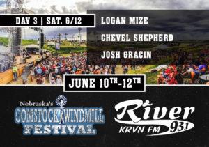 Logan Mize with Chevel Shepherd & Josh Gracin @ Comstock Windmill Festival