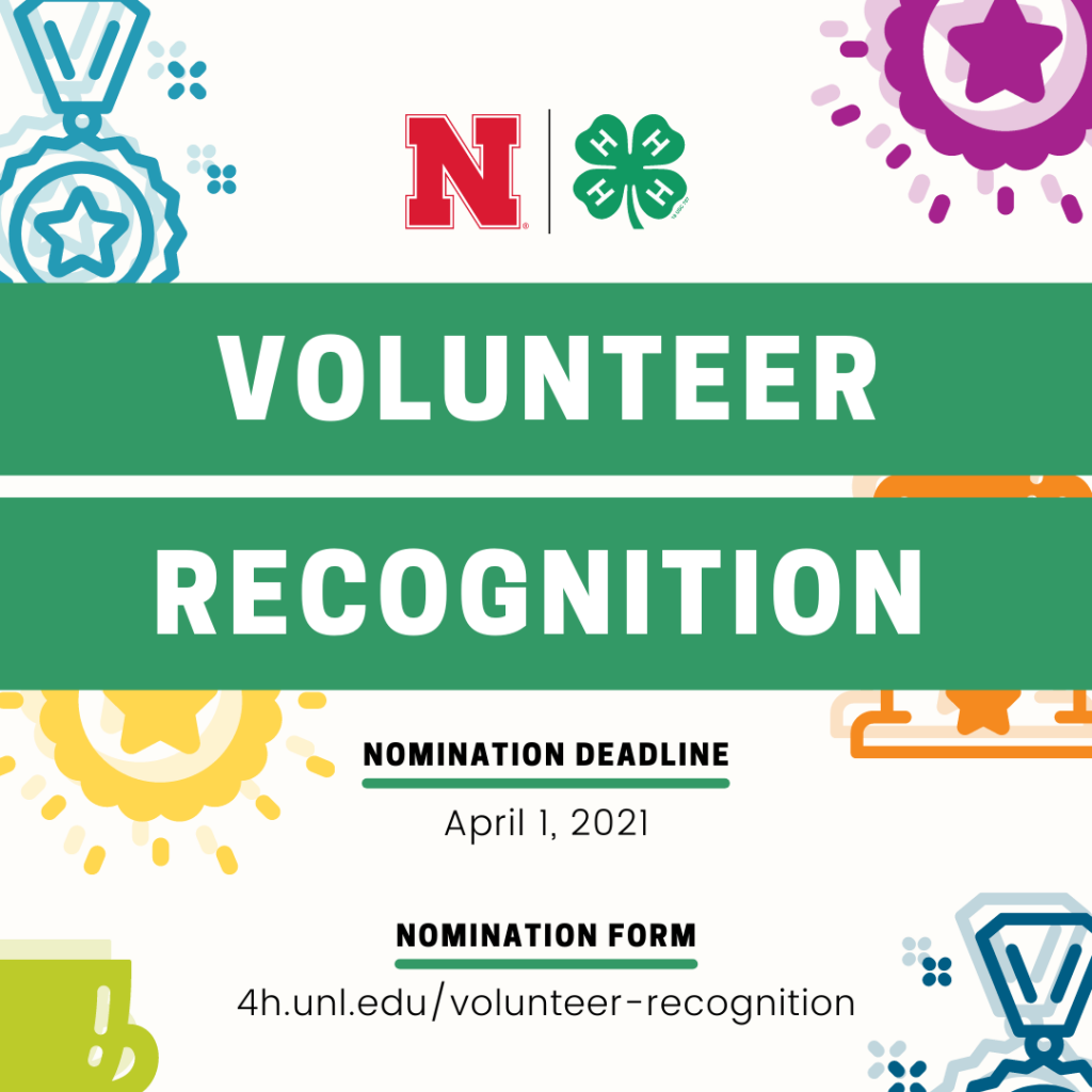Nebraska 4-H offers new opportunities to recognize volunteers