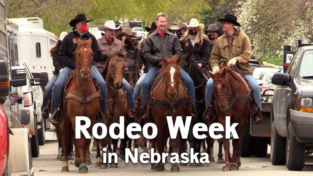 Ricketts goes horseback, proclaims 'Rodeo Week' in Nebraska