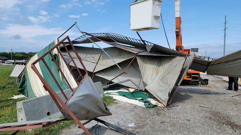 Lancaster Event Center hit by microburst tornado ahead of National High School Finals Rodeo