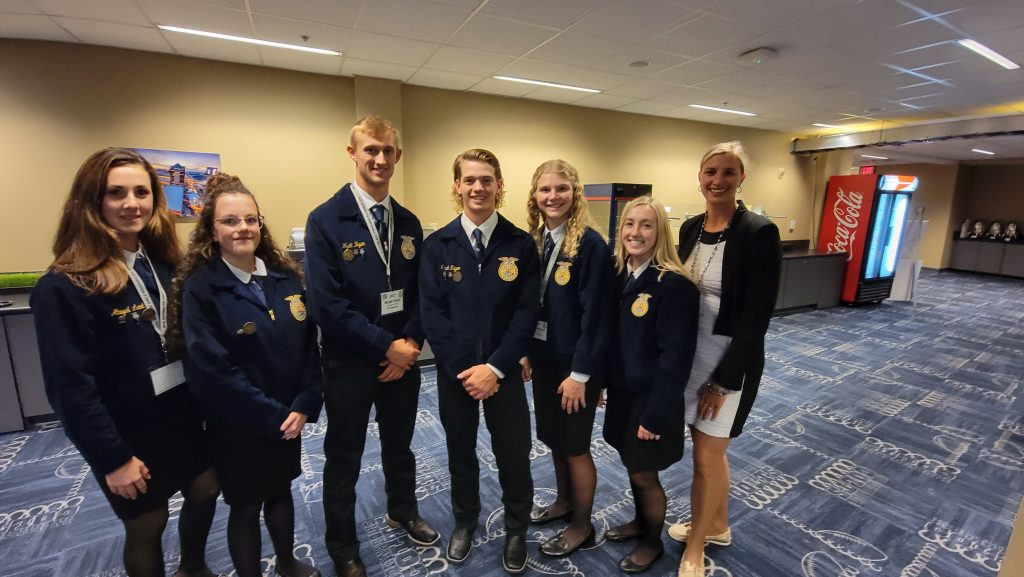 Eight Nebraska Chapters honored as three-star chapters at National FFA Convention