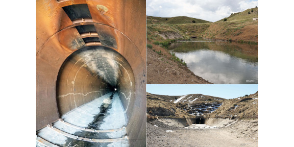 Update on repairs from 2019 tunnel collapse and end of '21 irrigation season