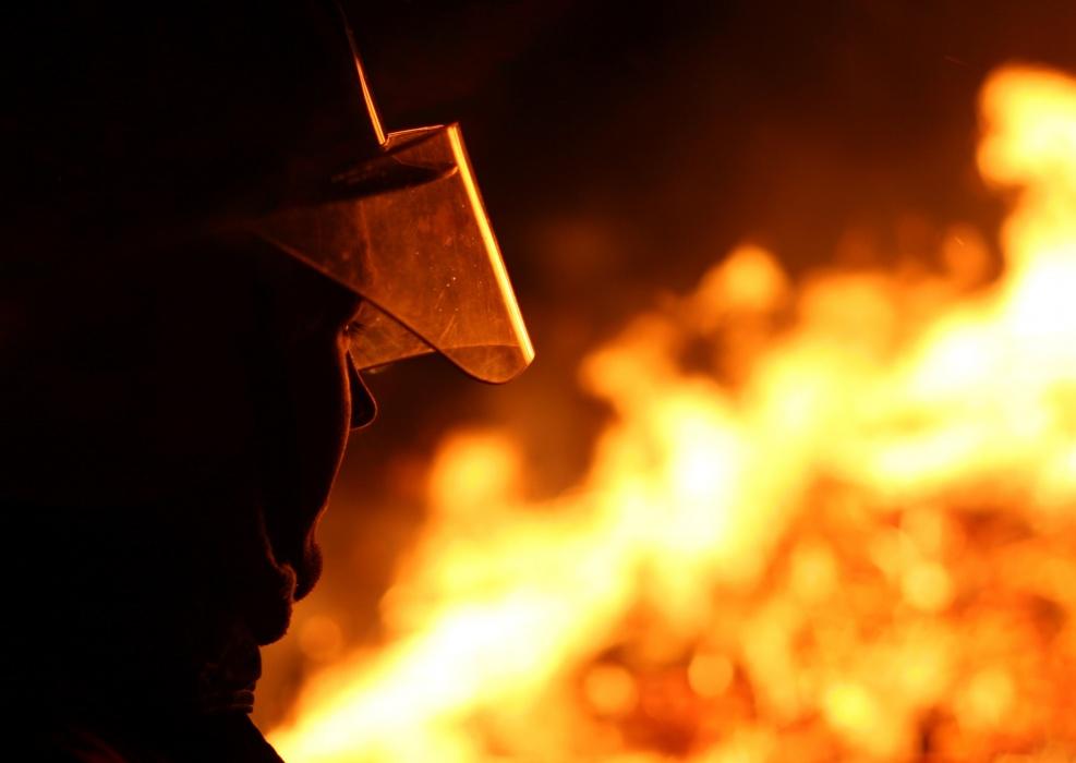 Superior Volunteer Fire Department on-scene elevator fire
