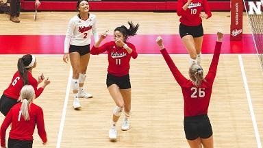 Husker Volleyball sweeps Hoosiers in Season Opener