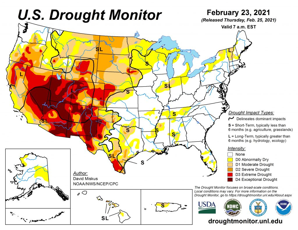 Western U.S. stress by drought