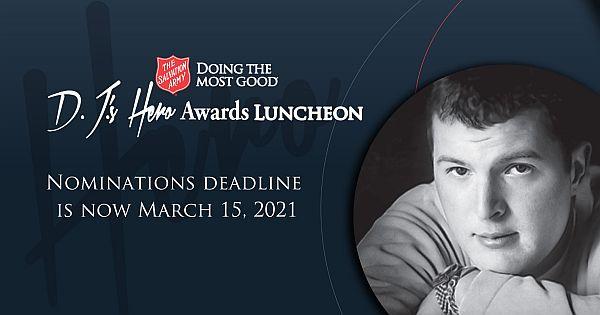 Nomination deadline extended for 2021 2021 D.J.'s Hero Awards  Scholarships