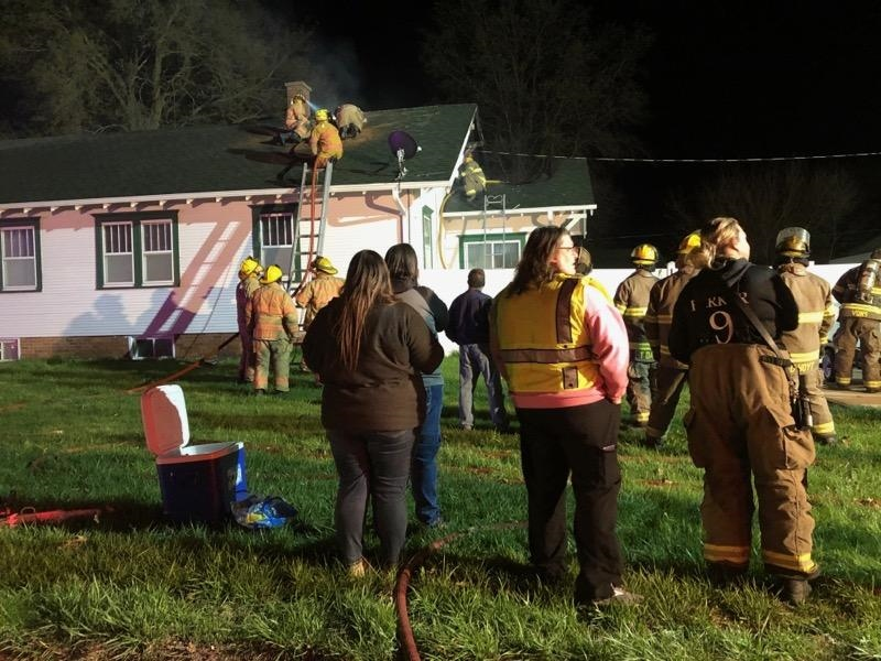 Clay Center home damaged by early Monday fire, three occupants and two dogs safely evacuated