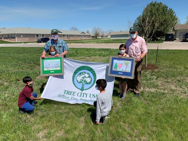 Lexington Arbor Day poster contest co-winners recognized