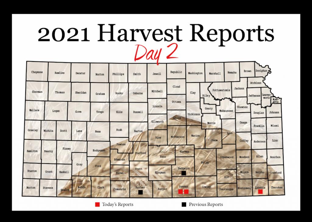 Day 2, Kansas Wheat Harvest report