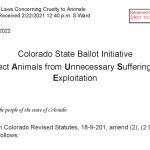 Nebraska Farm Bureau comments on  Colorado Supreme Court Blocking Ballot Measure
